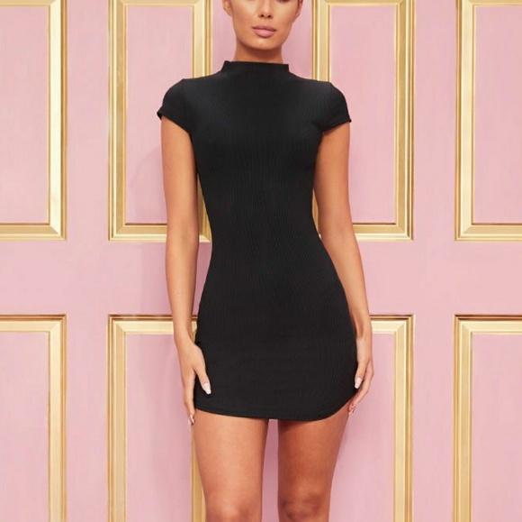 d621b99a77c PrettyLittleThing Dresses | Black Ribbed Mini Dress | Poshmark